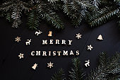 'merry christmas' words on christmas background
