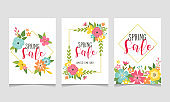 Spring sale web banner collection