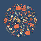 Vector linear design Harvest festival greetings card. Typography ang icon for autumn holiday background, banners or posters and other printables.