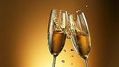 Champagne wine toast