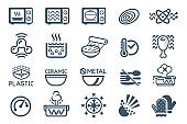 Technology Microwave oven icon.