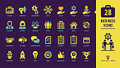 28 Point color icon set