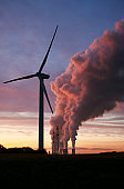Wind turbine and coal fired power plant