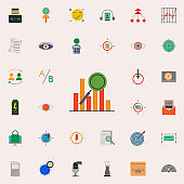 colored ranking icon. marketing and business and digital marketing icons universal set for web and mobile