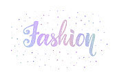 Holographic fashion lettering. Glitter texture. Beauty text