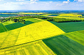 High angle view of Agriculture fields in Germany