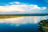Aerial View over the Zambezi River, Zambia