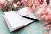 Party: Diary and Fountain Pen Still Life