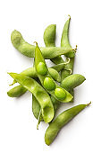 Vegetables: Edamame Isolated on White Background