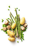 Vegetables: Variety Of Vegetables Isolated on White Background