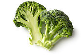 Vegetables: Broccoli Isolated on White Background