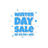 The background for Winter sale in a minimalist modern style and vintage memphis elements in black and white. This background is used for posters, banners, flyers and leaflets.