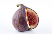 sweet figs on white background