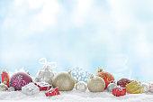 Christmas decoration and christmas present