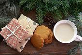 Christmas decoration and Christmas present (wood, milk)