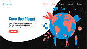 Web Template. Concept save the planet and environment