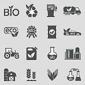 Bio Fuel Icons. Sticker Design. Vector Illustration.