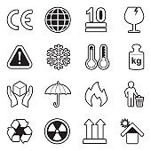 Packing Icons. Line With Fill Design. Vector Illustration.