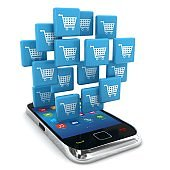 E-commerce online shopping marketing mobile phone