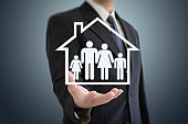 Risk family life insurance protection house