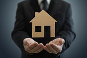 House real estate buy investment insurance protection businessman