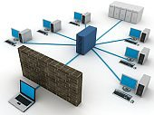 Computer network security firewall cyber data protection