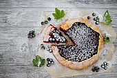 Summer vegetarian food, summer delicious berry pie