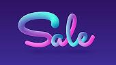 3d lettering sale banner