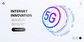 5G network technology illustration