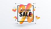 Autumn sale creative banner