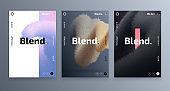 Creative design posters set