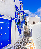 Traditional authentic Greece series - old streets of Mykonos island, Cyclades