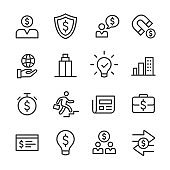 Business and Finance Icon Set - Line Series