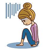 Women are sad feelings.