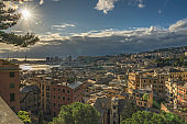 "View of Genoa from ""Spianata Castelletto"", Italy"