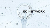 5G and AI technology, Global communication network concept.