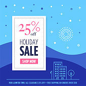Retail Holiday Sale Web Banner