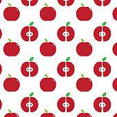 red apple pattern. background vector design illustration