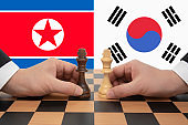 Inter-Korean Summit expressed in a chess game.