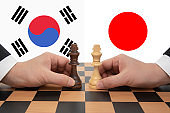 South Korea-Japan Summit expressed in a chess game.