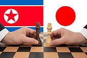 North Korea-Japan Summit expressed in a chess game.