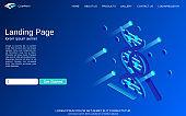Website landing page design template