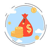 Money bag vector illustration