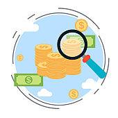 Financial analysis vector concept