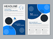 Modern professional business flyer vector template