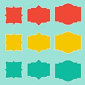 Labels stickers icons temlate set.