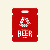 Modern craft beer drink vector logo sign for bar, pub, store, brewhouse or brewery isolated on light background.