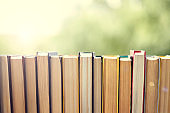 best books home library background. read vintage books in a row. college library table. vintage books publishing