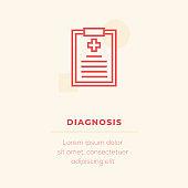 Diagnosis Vector Icon, Stock Illustration