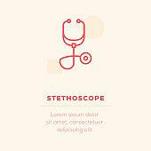 Stethoscope Vector Icon, Stock Illustration